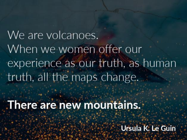 we are volcanoes